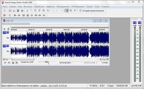 Sony Sound Forge Audio Studio 10.0 Build 245 [Русская версия]