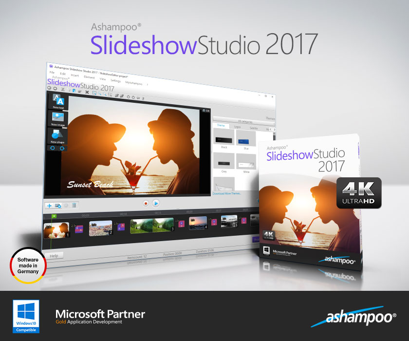 Ashampoo Slideshow Studio 2017 Версия 1.0.1, 2016/10/26